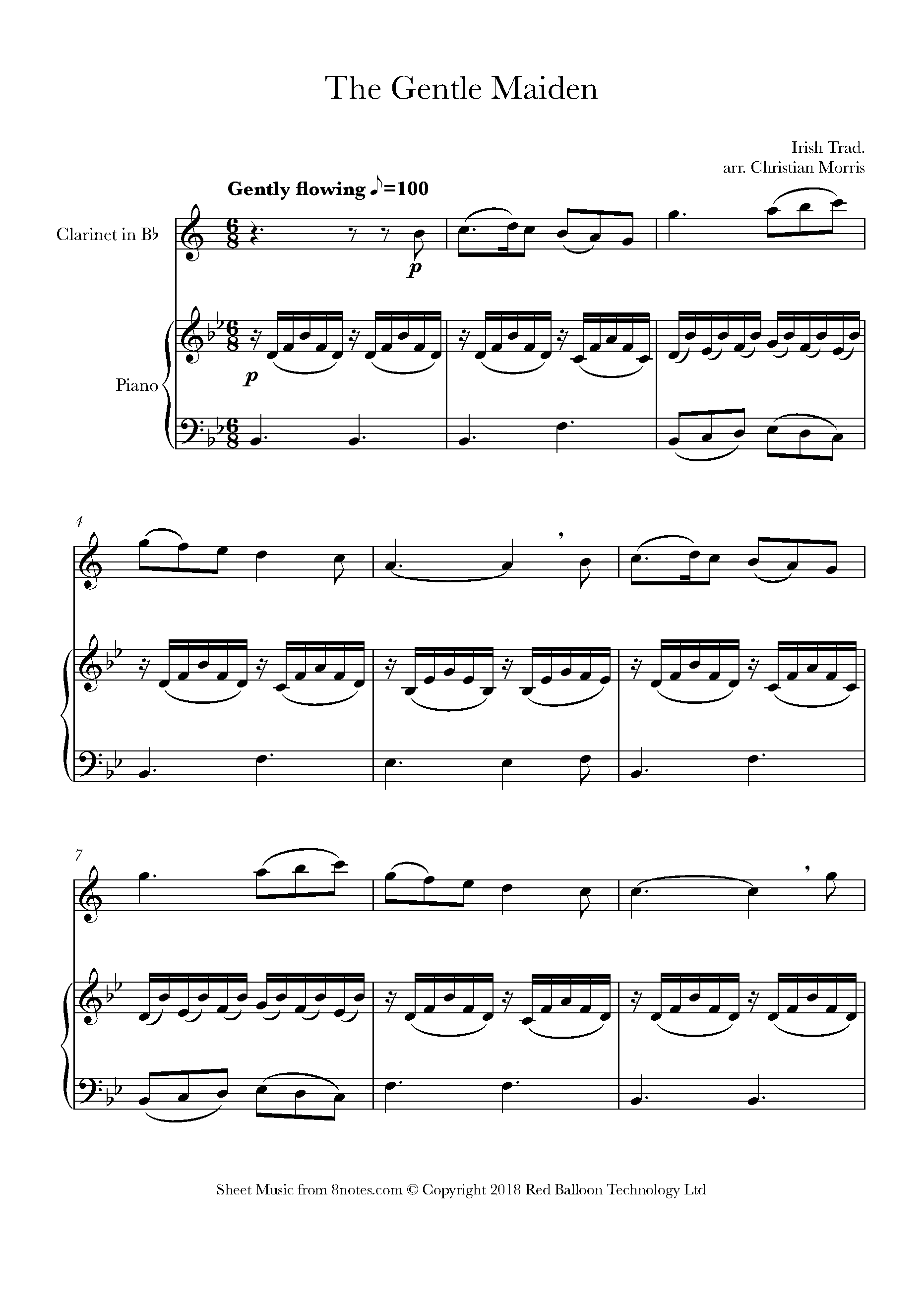 free clarinet sheet music