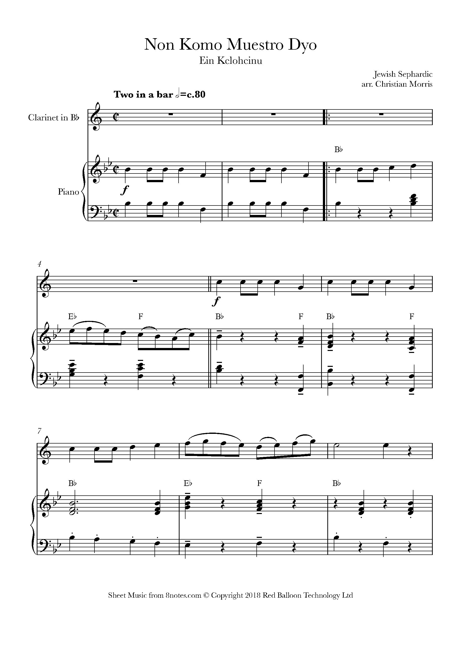 Free Clarinet Sheet Music, Lessons & Resources - 8notes com