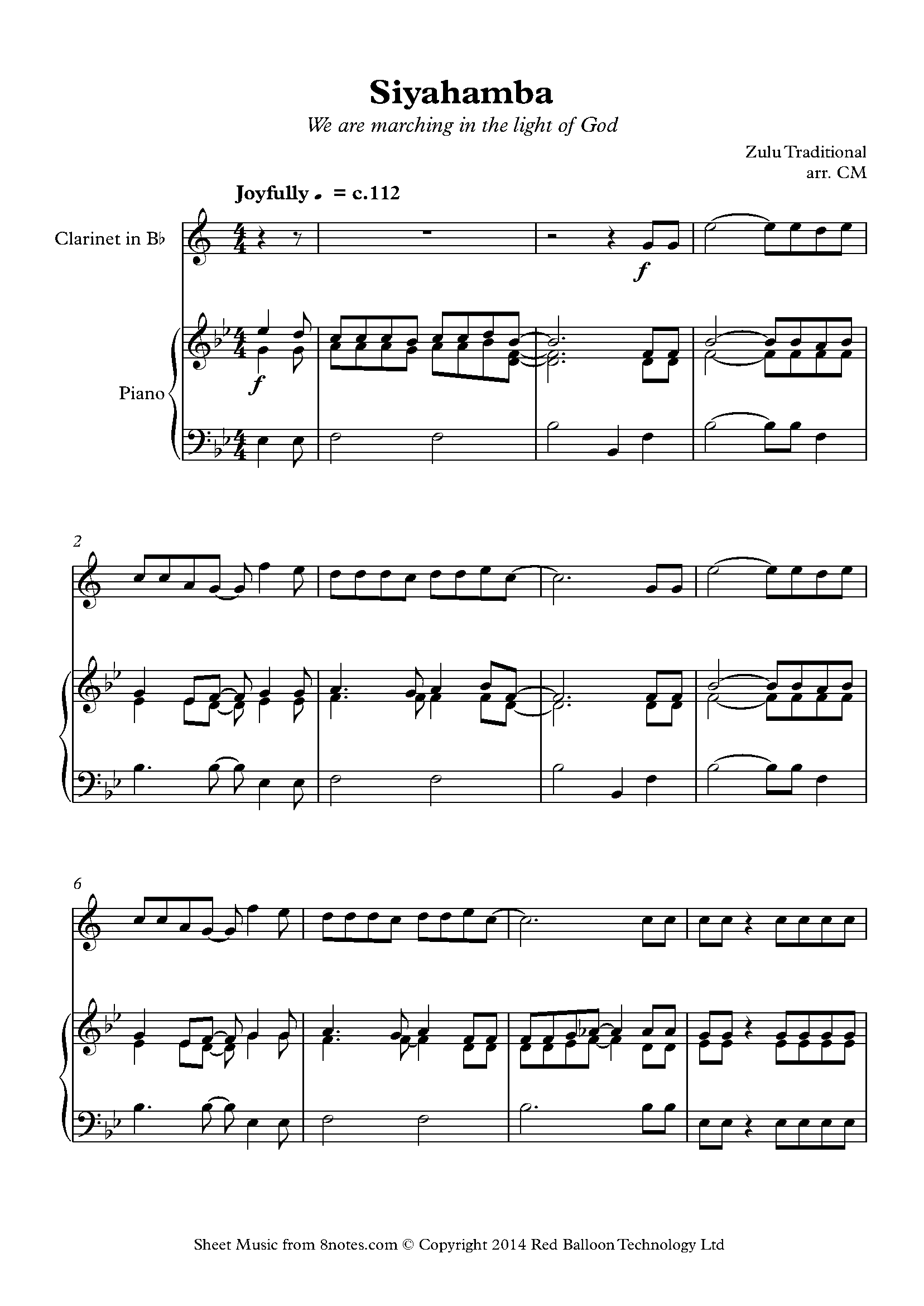 Free Clarinet Sheet Music, Lessons & Resources - 8notes.com