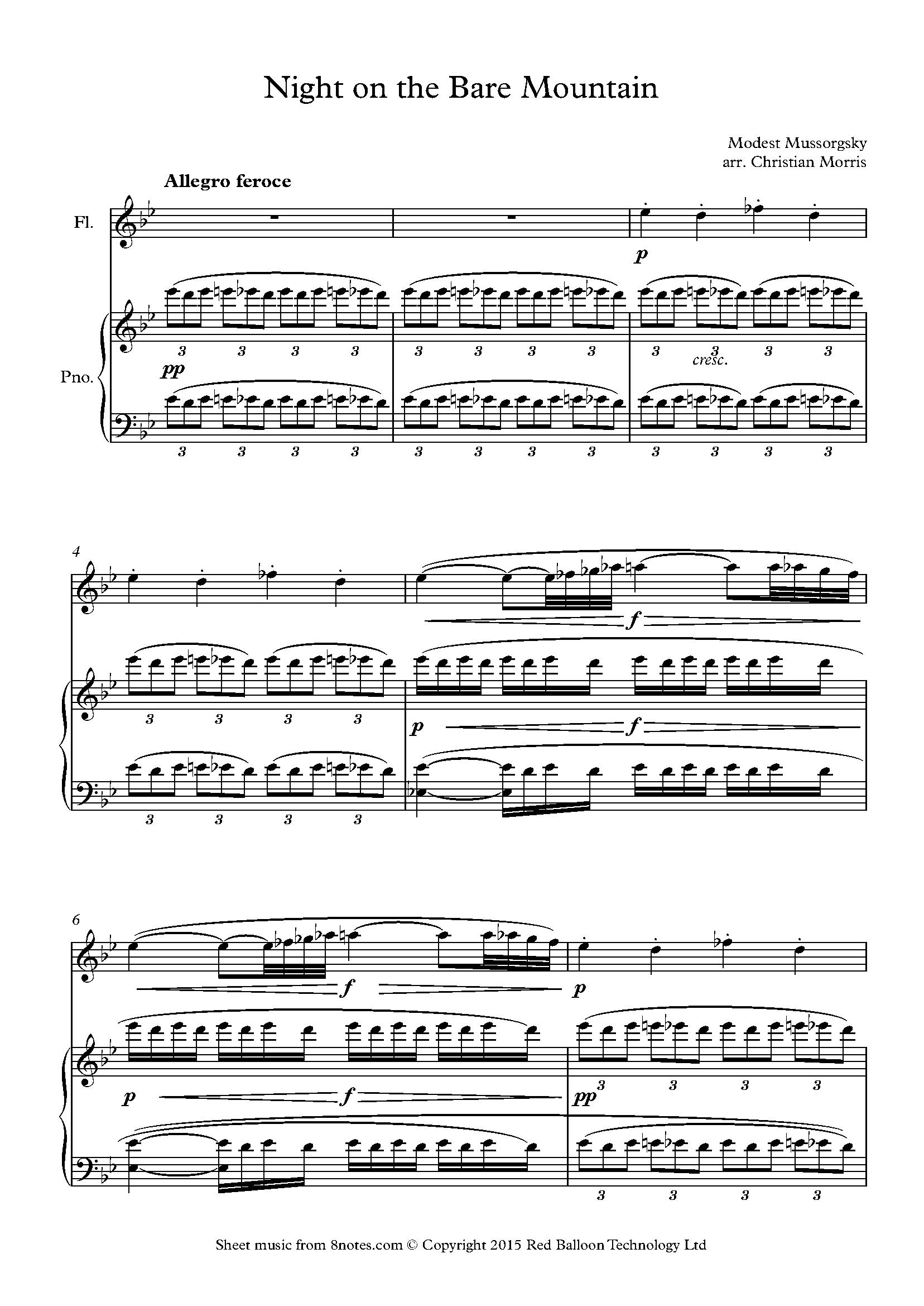 free flute sheet music random pick in flute