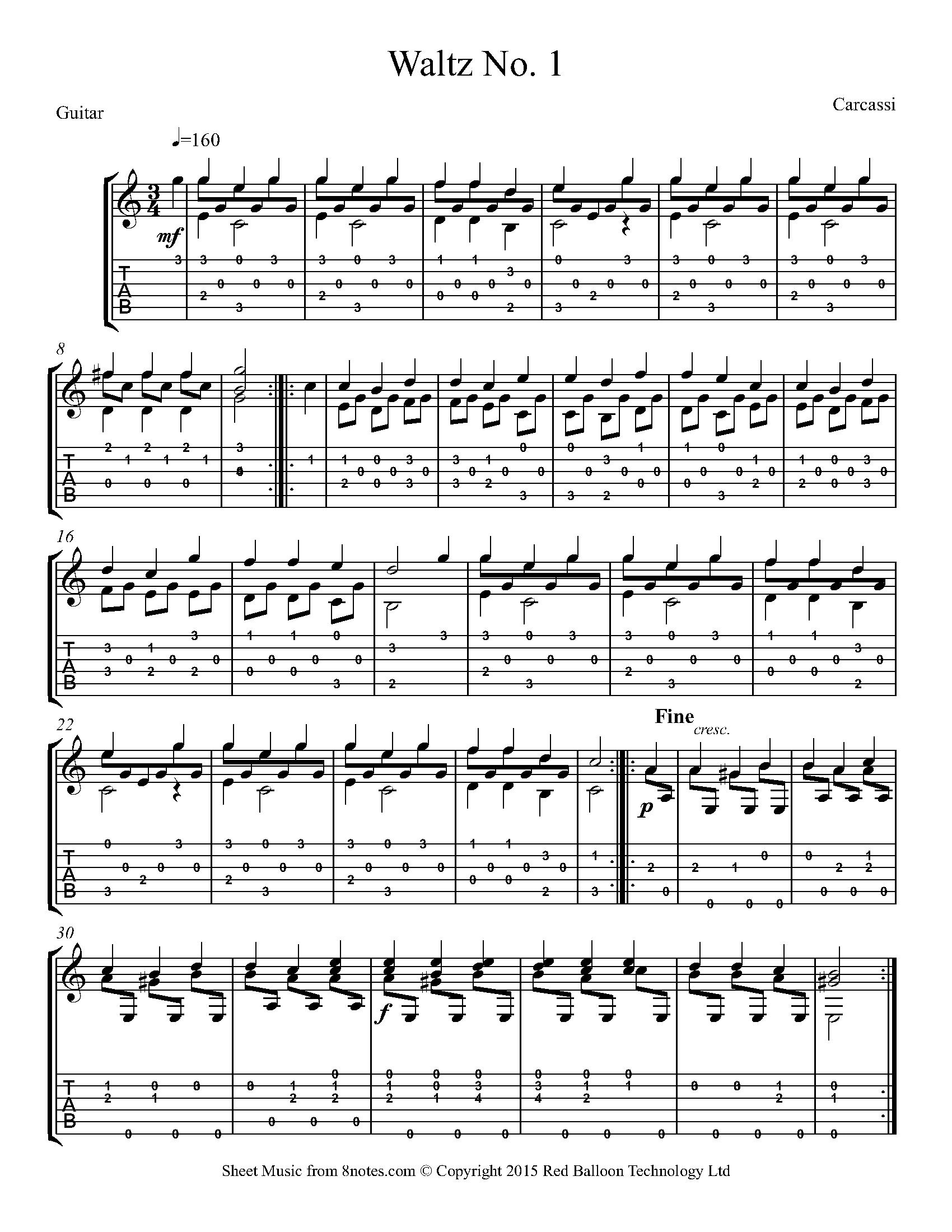 Free Guitar Sheet Music Lessons Resources 8notescom