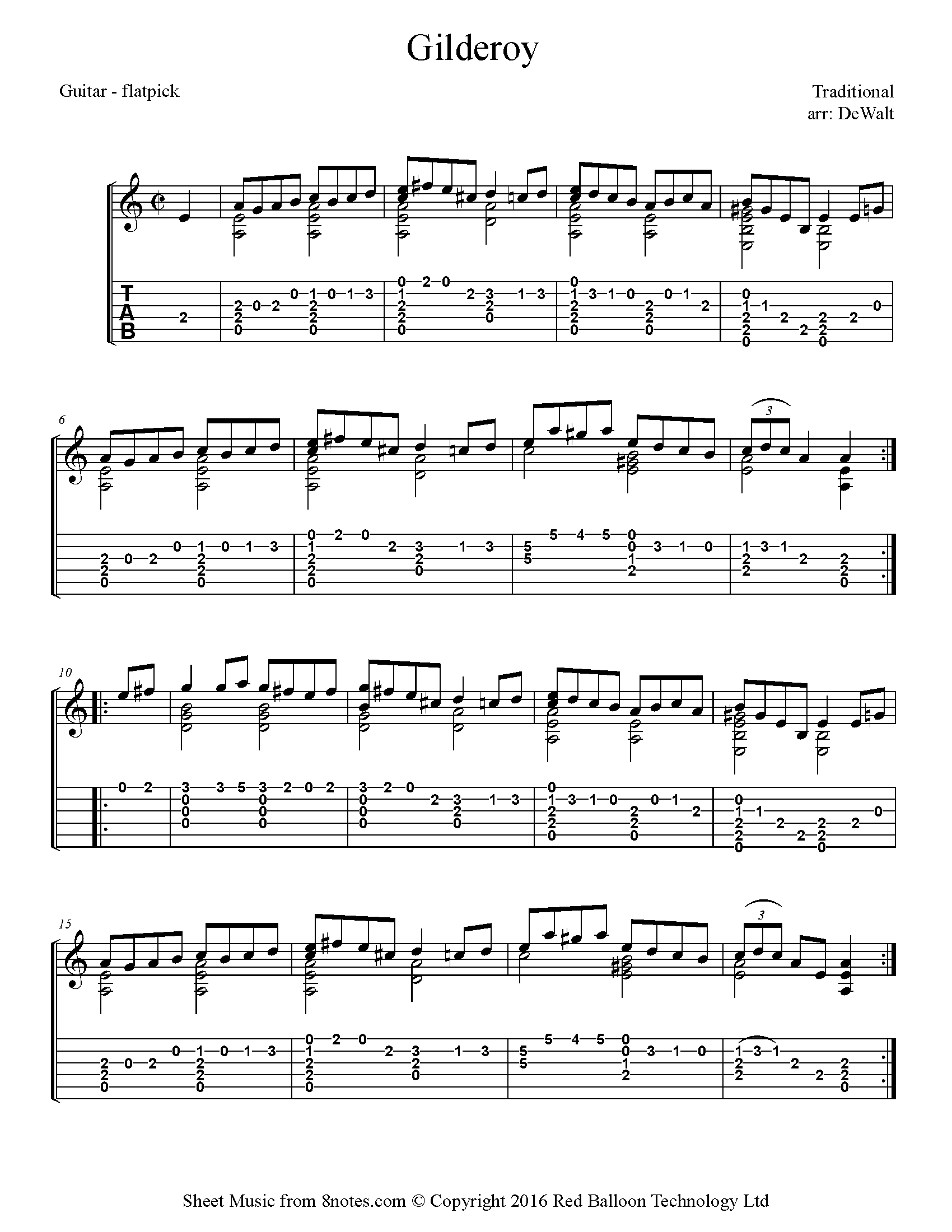 Free Guitar Sheet Music Lessons Resources 8notes