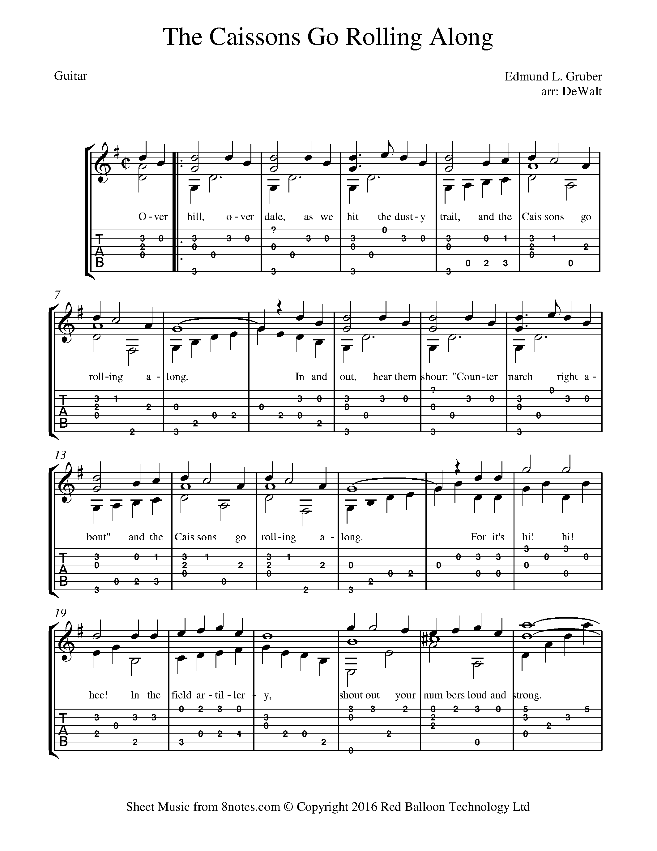Free Guitar Sheet Music, Lessons & Resources - 8notes com