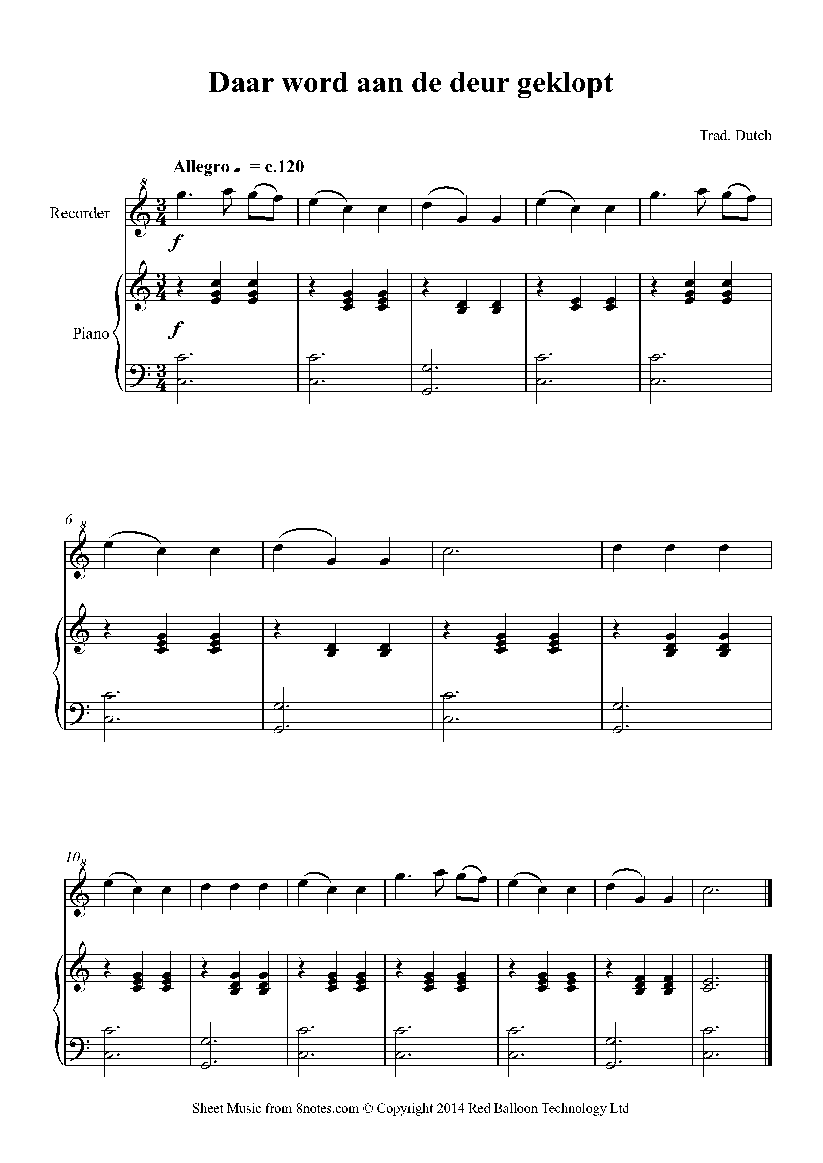 Free Recorder Sheet Music, Lessons & Resources - 8notes.com