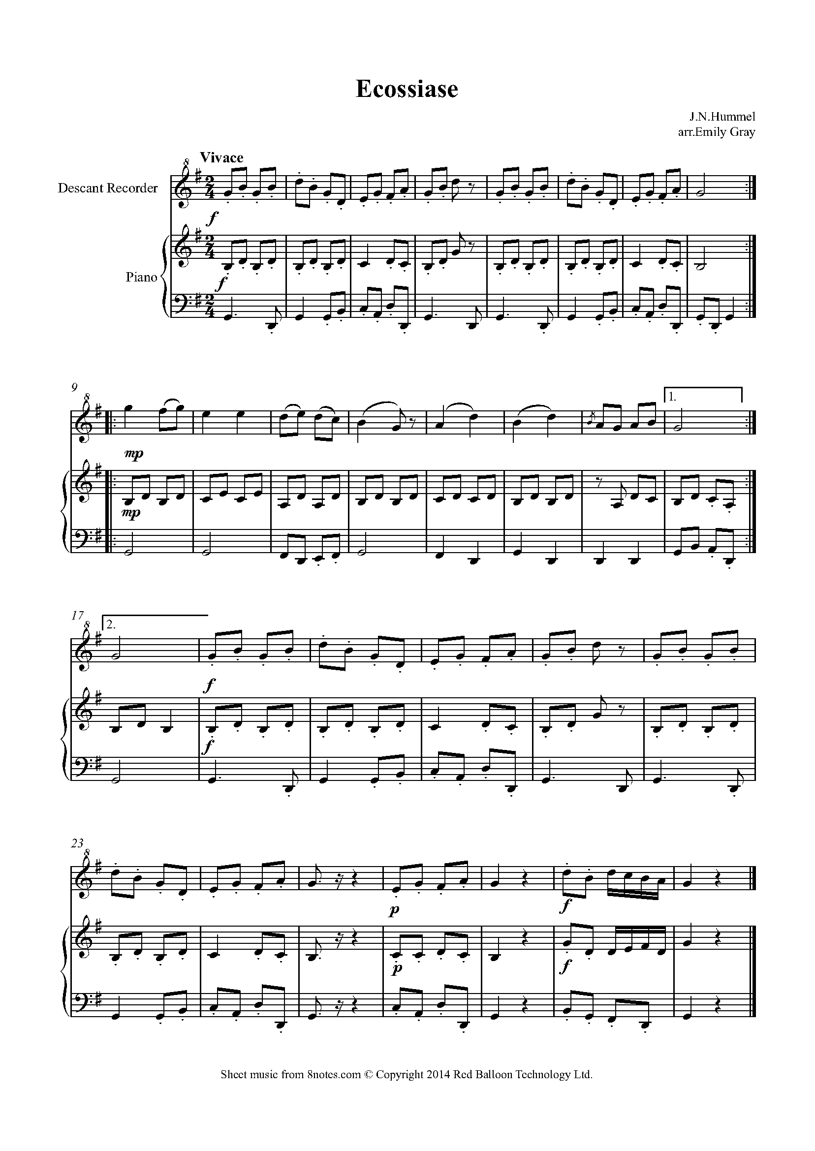Free Recorder Sheet Music, Lessons & Resources - 8notes com