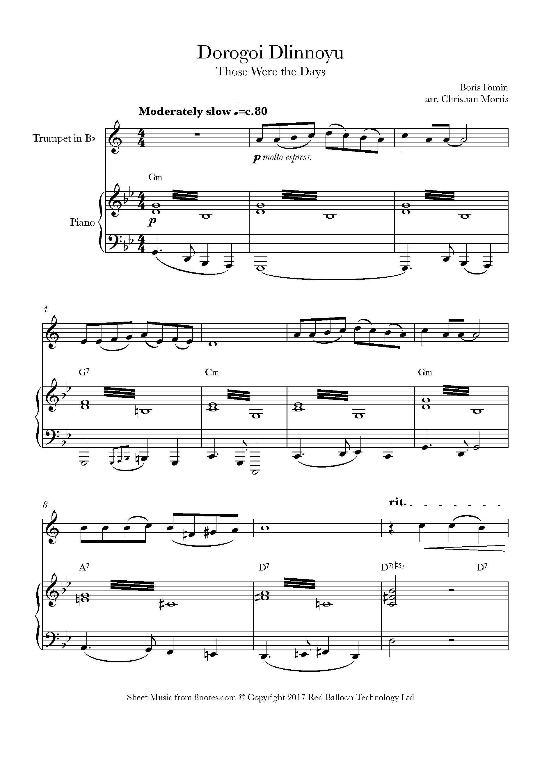 Free Trumpet Sheet Music, Lessons & Resources - 8notes com