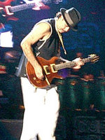 Santana during concert in Barcelona 2003