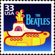 The Beatles even had their own stamp commissioned, featuring a tribute to .