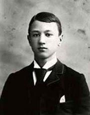 The young Charles Ives took music lessons from his father, a  bandmaster.