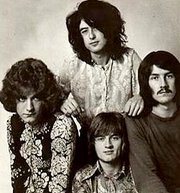 Led Zeppelin (clockwise from left: Robert Plant, Jimmy Page, John Bonham, John Paul Jones)