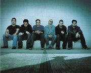 Linkin Park is (left to right) Joe Hahn, Mike Shinoda, Phoenix Farrell, Chester Bennington, Brad Delson and Rob Bourdon
