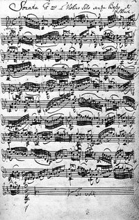 Violin Sonata #1 in G minor (BWV 1001) in Bach's handwriting