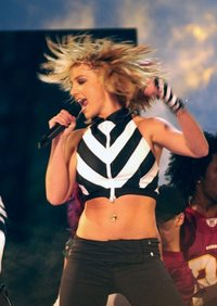 Britney Spears performs on the National Mall in , September of 2003.