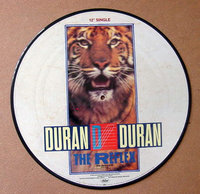 "This 12-inch picture disk for ""The Reflex"" was one of many collector"