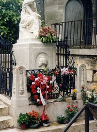 The grave of Chopin in Paris