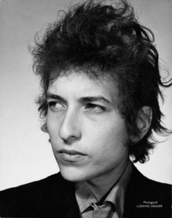 Portrait photograph of Bob Dylan taken by Daniel Kramer