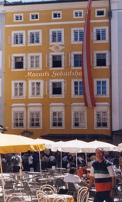 Mozart's birthplace at 9 Getreidegasse, ,