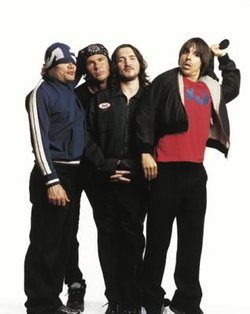 Red Hot Chili Peppers (from left): , ,  and