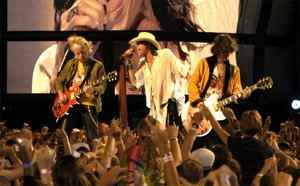 Aerosmith performs on the National Mall in Washington, DC