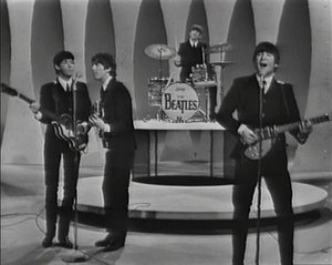 "The Beatles appeared on  in  as part of their first tour of the , promoting their first hit single there, ""."""