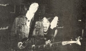 Cliff Burton and James Hetfield, 1983