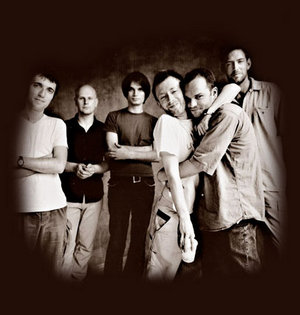 from left: Colin, Phil, Jonny, Thom,  Nigel Godrich, Ed
