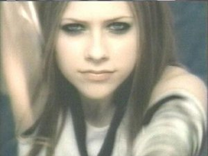 Avril Lavigne in her music video for the song