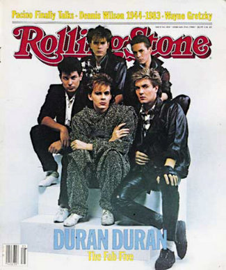 "At the height of its fame, Duran Duran (""The Fab Five"") was featured on the cover of the February 1984 issue of Rolling Stone magazine."