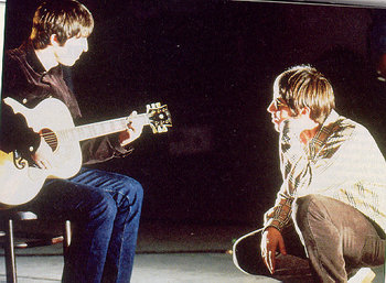 Noel jamming with Liam