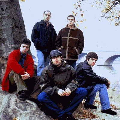 from - in a clockwise order: Guigsy, Bonehead, Whitey, Liam and Noel
