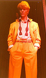 "David Bowie dressed for the ""Serious Moonlight Tour"""