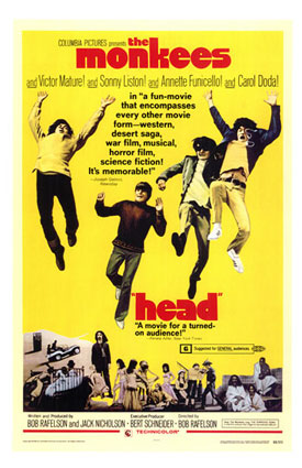 Promotional poster for the movie Head, starring the Monkees, 1968