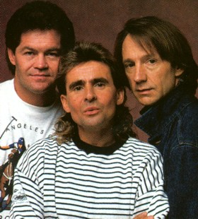 The reunited Monkees in 1987