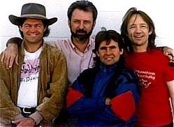 Michael Nesmith rejoins his bandmates in Los Angeles, 1989