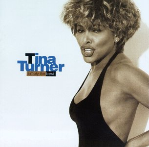Tina Turner on the cover of her  album Simply the Best